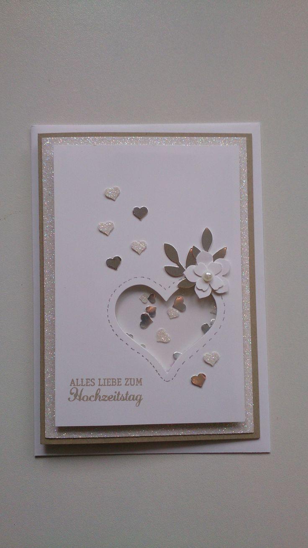 Stampin up Diamantene Hochzeit Schüttelkarte  Hochzeitstag karten