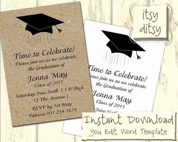 Graduation Card Template Word Fresh 17 Best Ideas About Graduation Invitation W Graduation Invitations Template Party Invite Template Graduation Card Templates