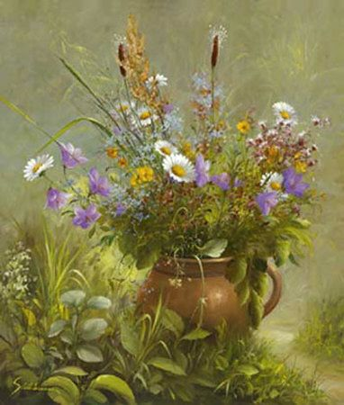 Art painting still life wonderful by Heinz Scholnhammer