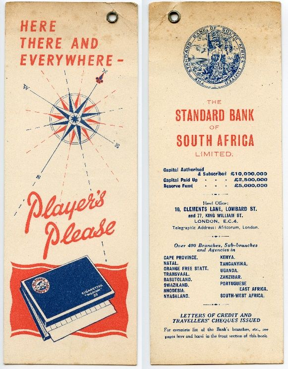 Players Tabacco / Standard Bank of South Africa