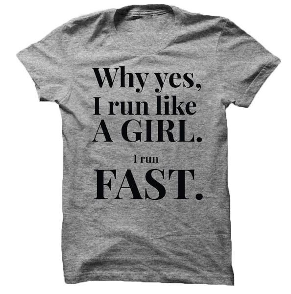 SHOP I Run Like a Girl Tee | Worldwide Shipping | Free Shipping on $75 | Our newest tee is perfect for any runner, celebrate your strength