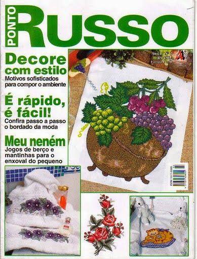 Artesanato com amor...by Lu Guimarães: Revista Ponto Russo