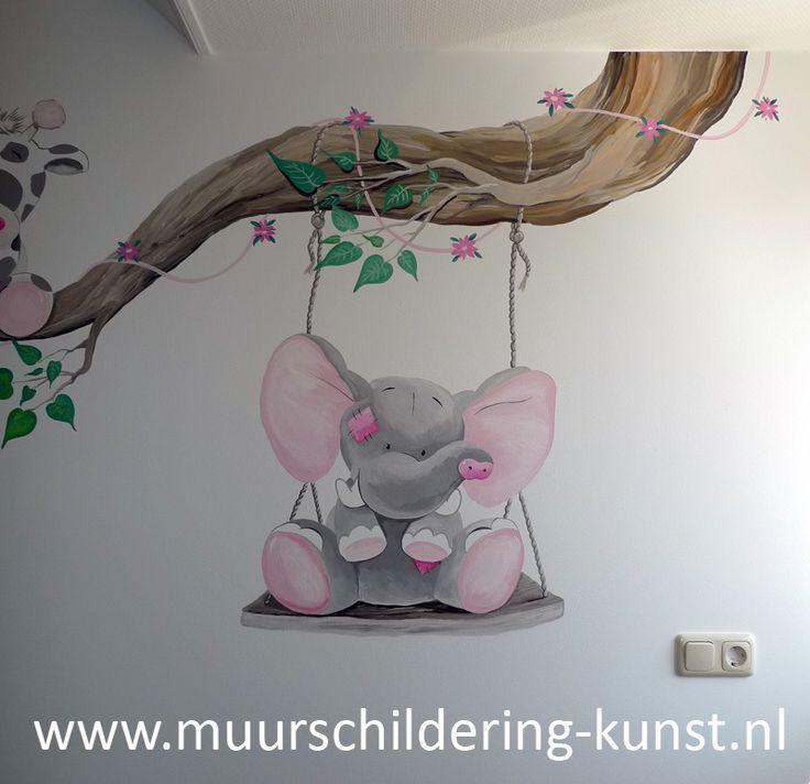 muurschildering olifant