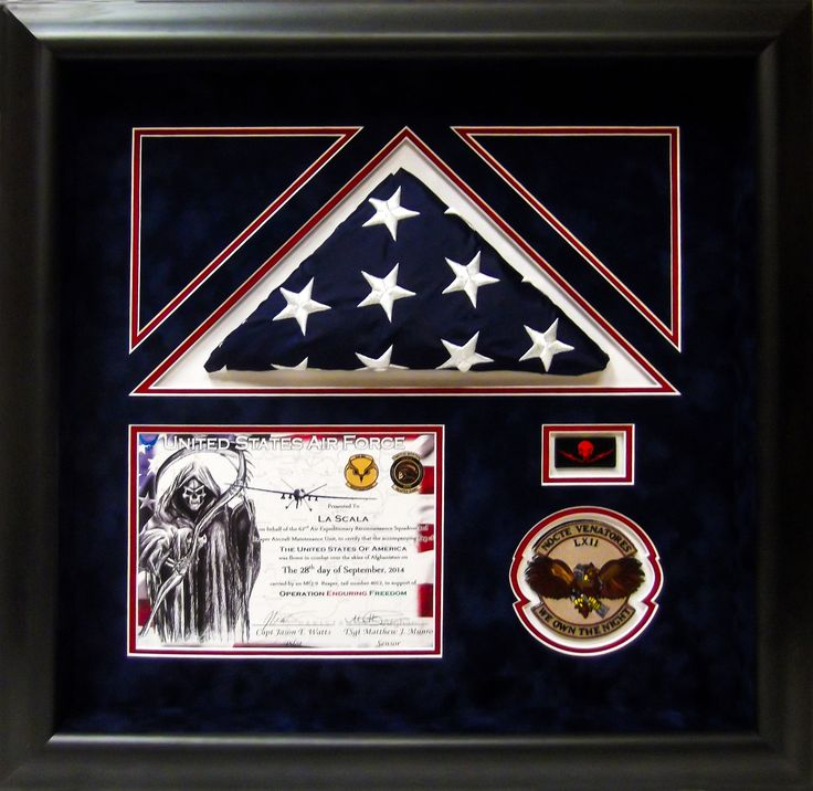 air force shadow box we own the night military airforce