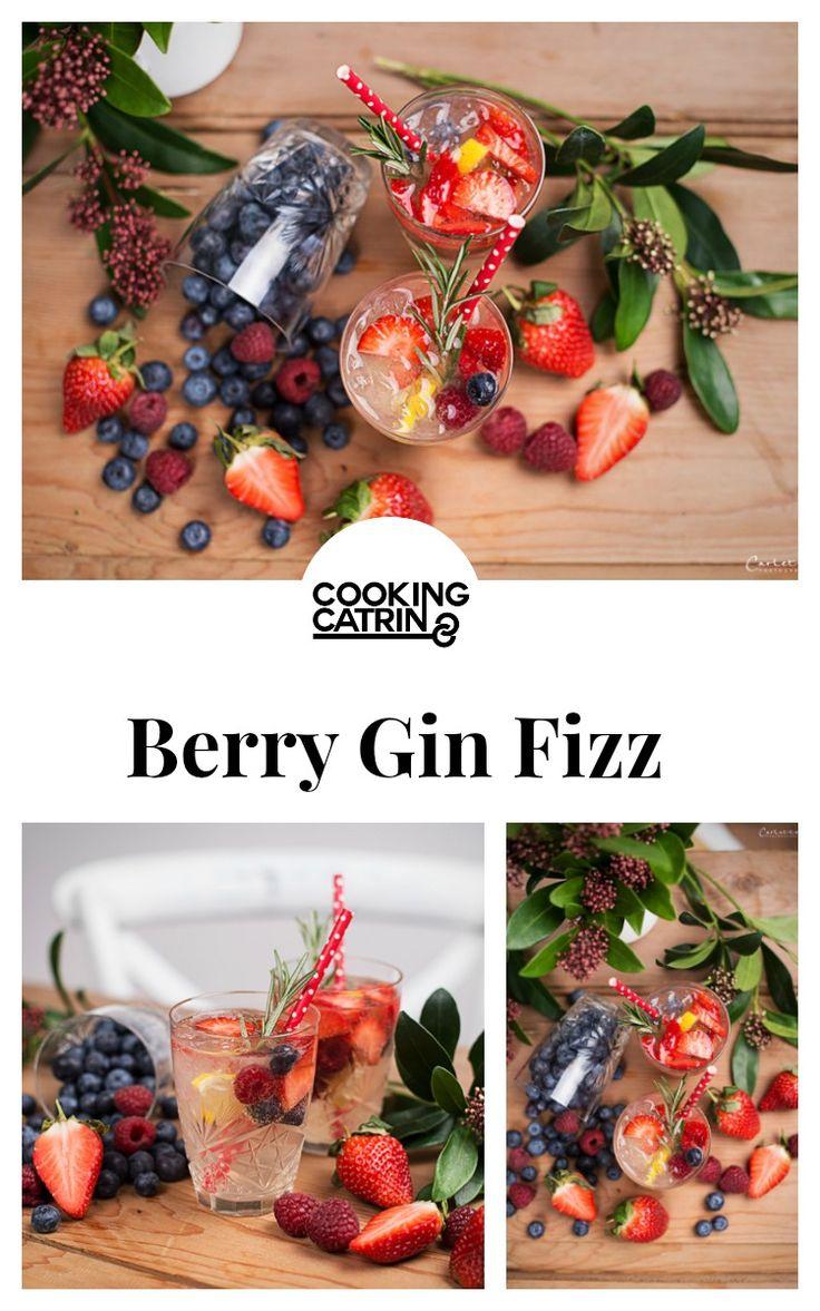 Berry Gin Fizz, Gin Tonic, Berry Gin Tonic, Berry Lemon Gin Tonic, Lemon Gin Tonic, Drink, Getränk...http://www.cookingcatrin.at/beeren-zitronen-gin-fizz/