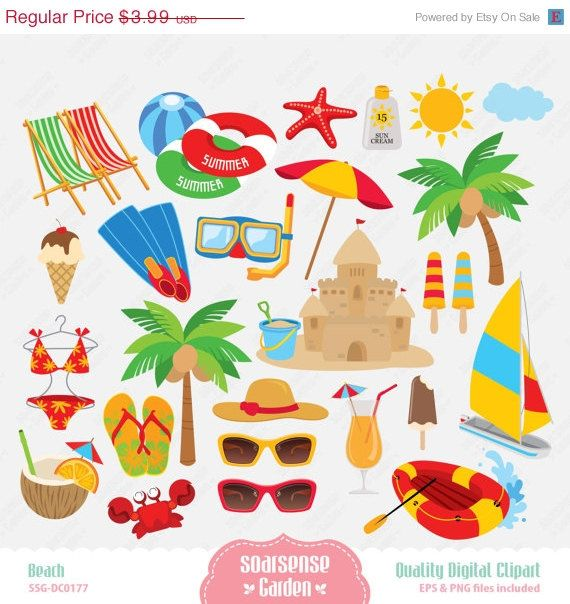 Beach Digital Clipart