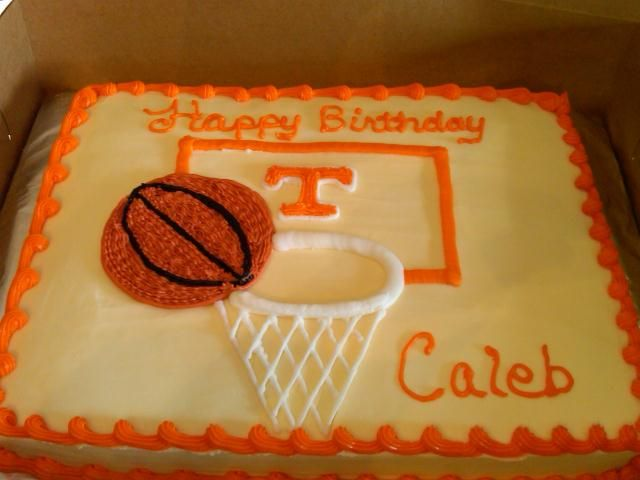 Tennessee Basketball Cake...the boy wants this cake but Longhorns
