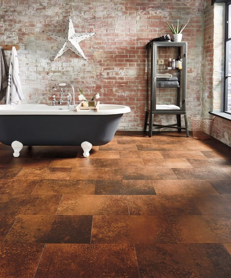 i love the entire look of this bathroom itu0027s so warm and rustic in color luxury vinyl