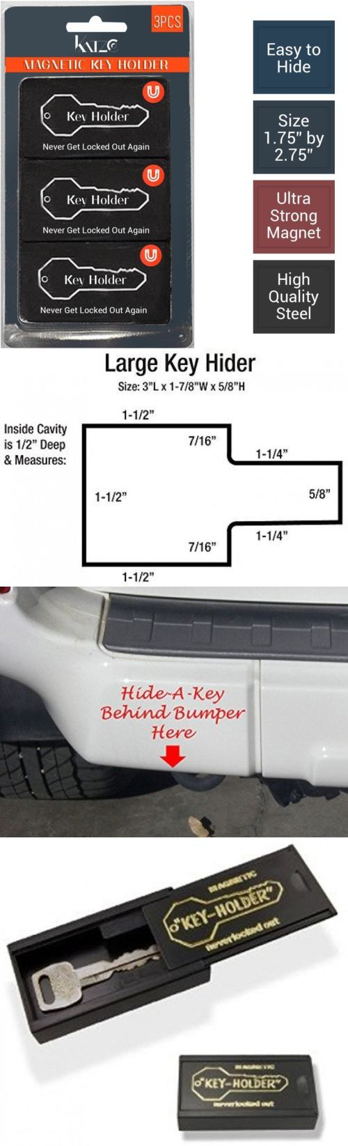 Hide-a-Keys 115945: Magnetic Hide A Key Holder, Fits 3? Inches Long Keys, Extra Super Strong Good -> BUY IT NOW ONLY: $32.17 on eBay!