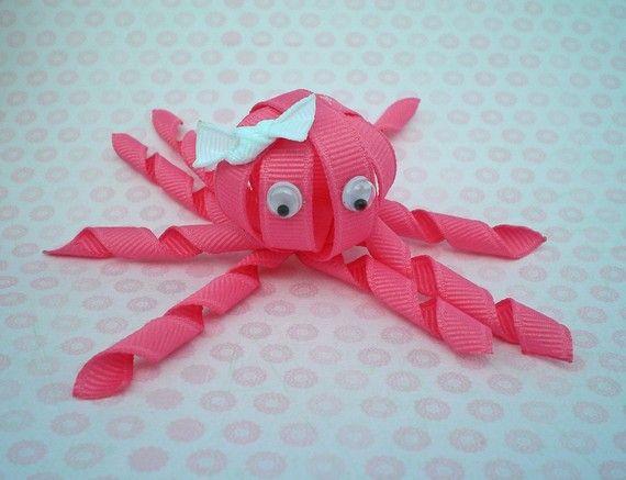 Tiger Ribbon Sculpture Hair Clip Toddler Hair Bows by leilei1202