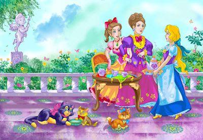 Fondos infantiles con dibujos animados de la cenicienta en el castillo de las princesas | Banco de Imágenes Gratis .COM (shared via SlingPic)
