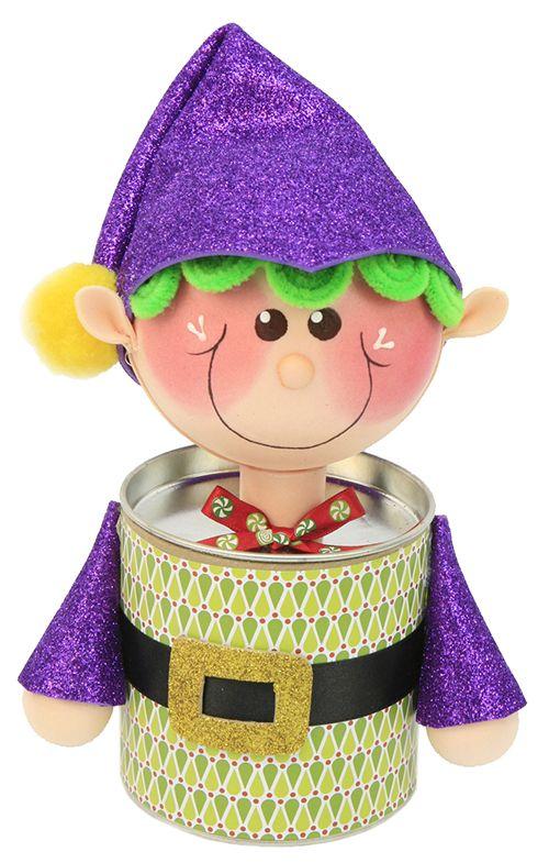 dulcero navideo duende navidad adorno decoracin goma eva