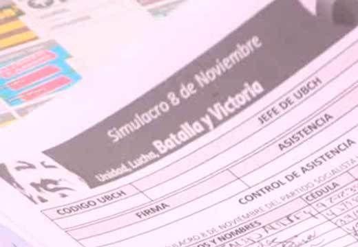 VIDEO // Oficialismo moviliza a sus electores en simulacro electoral  Sólo el Partido Socialista Unido de Venezuela (Psuv) y sus 31 partidos aliados, integrados en el Gran Polo Patriótico (GPP), movilizan a sus electores en un simulacro electoral nacional a un mes de los comicios legislativos del 6 de diciembre.
