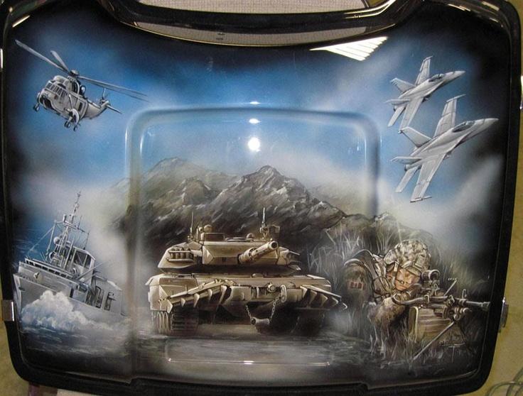 166 best airbrushing images on pinterest for Airbrush car mural