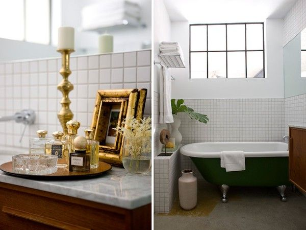 : Design Homes, Bath Tubs, Clawfoot Tubs, Bathtubs, Creative Flats, Architecture Interiors, Interiors Design, Gold Accent, Bathroom Decoration