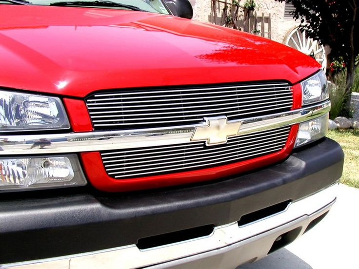03-07 04 05 Chevy Silverado SS Bumper Center Billet Grille Insert