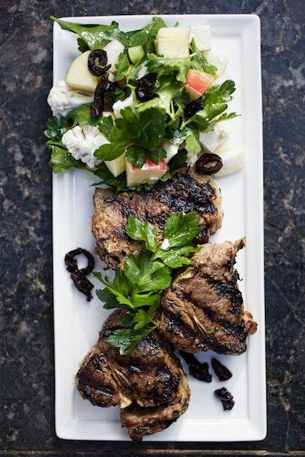 Lamb Chops w Winter Greek Salad - Farmhouse Delivery