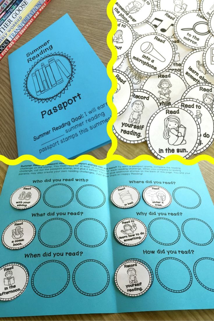 Summer Reading Passport...super fun way to practice reading over the summer! Have students bring it back for a reward. More Than a Worksheet $