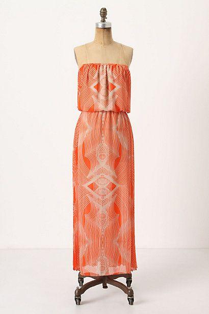 pleated optic maxi dress.: Maxi Dresses, Summer Dresses, Pleated Optic, Style, Maxis, Optic Maxi, Beach, Orange Dress