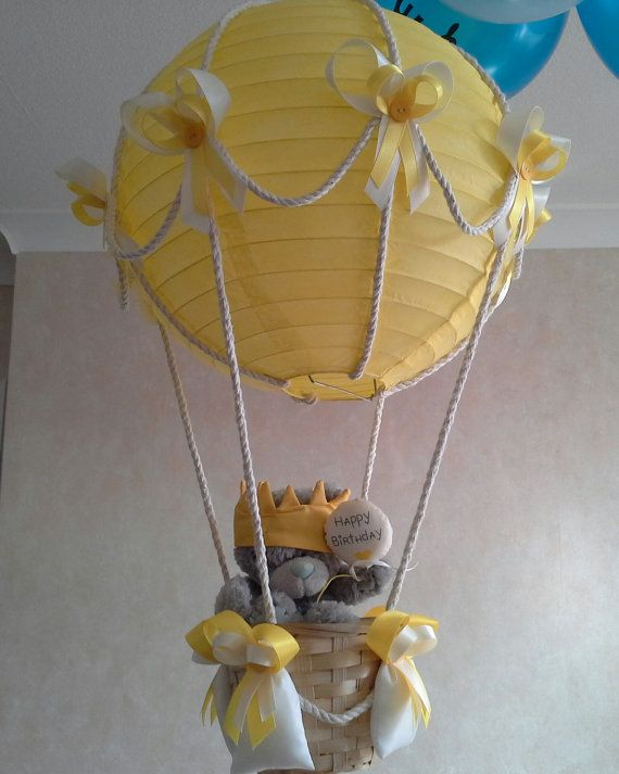 Hot Air Balloon light lamp shade with Tatty Teddy / por Babyshades, £32.00