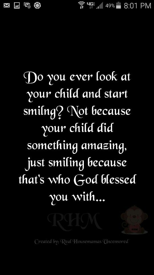 God blessed you with..
