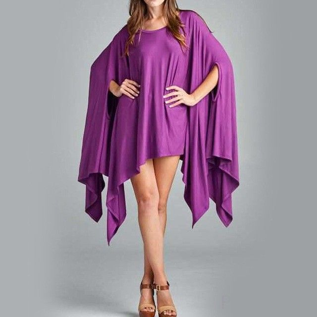 "Women's Awesome Purple Off the Shoulder Asymmetrical Hem Cape Poncho NEW COLORS!    NEW IN-STORE ARRIVALS! Summer S-A-L-E   OPEN 10-7 During the Week! ~ 20% off Clothing, All Brands  ~ Lori Snyder 40% off ~ Online Orders 20% off  **Use code ""Summer"""