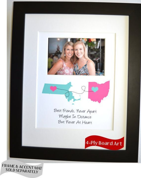 Unique Best Friend Go Away Gift Ideas: Goodbye Moving Long Distance Personalized Graduation College Custom Photo Art Picture Wall Art Decor