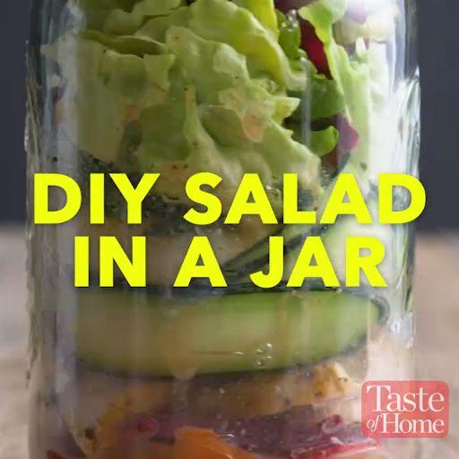 DIY Salad in a Jar Recipe