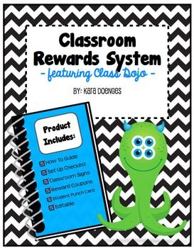 Middle School Rewards System featuring Class Dojo (EDITABLE)
