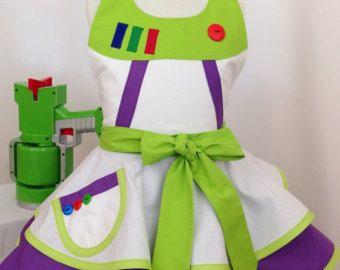 Chica de Buzz inspirado Space Ranger vestido hasta delantal, delantal del cabrito, traje de Halloween, Toy Story, Disneybound