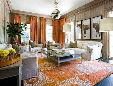 Hermes inspired living room. This is my house! In my dreams.