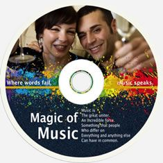 disk cover template design of magic music