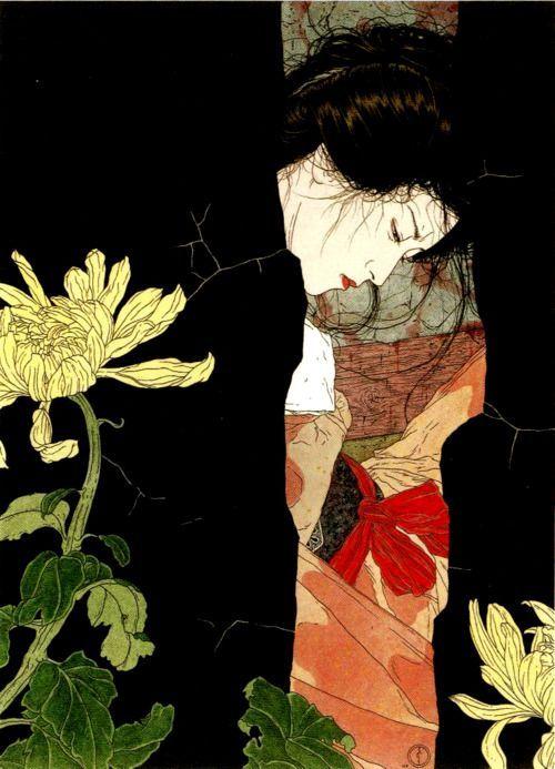 #japanese #watercolor #woman: