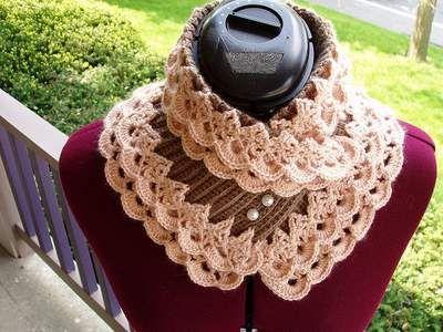Free Crochet Very pretty......  Crochet golden scarf Pattern!