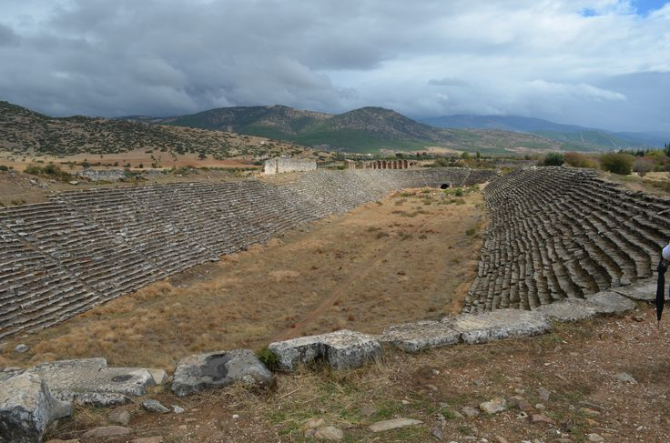 another view of beautiful stadium of Aphrodisias, built in the middle of a plain