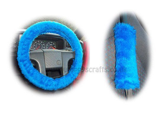 Fabulous Royal Blue faux fur fuzzy steering wheel cover and matching seatbelt pads  available now at http://ift.tt/1MdrObG  FREE worldwide shipping !  #fuzzysteeringwheelcover #seatbeltpads #royalblue #blue #caraccessories #automotive #handmade #handmadewithlove #jeepaccessories #truckaccessories #giftideas #funkycaraccessories #fun #carcovers #carsofinstragram #fauxfur #fuzzycar #driving #winterdriving #summerdriving #freeshipping