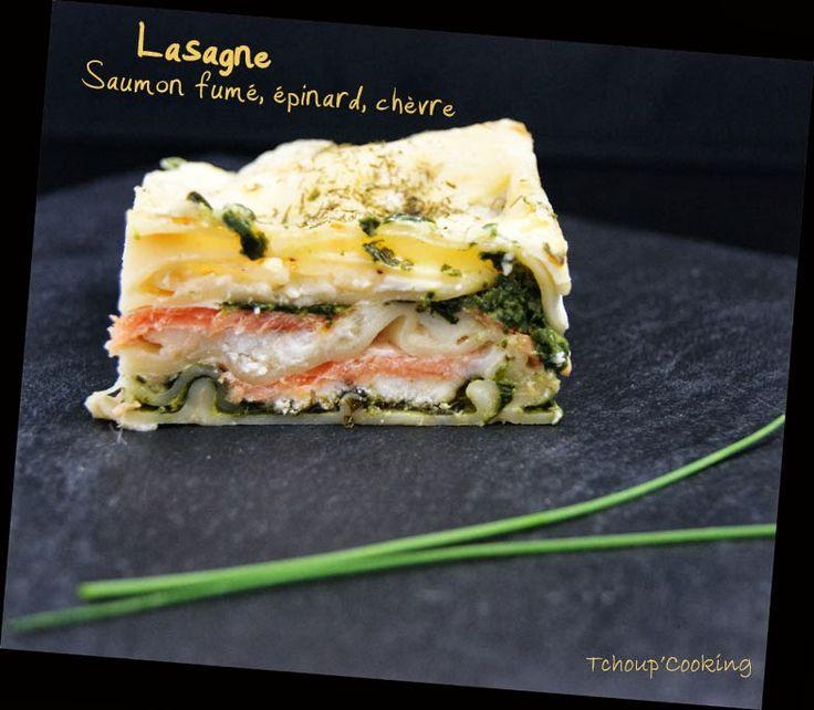 Tchoup' Cooking: Lasagne saumon fumé, épinards et chèvre...