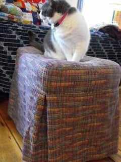 darling petunia: Secret Hiding Places (upholstered storage bins)