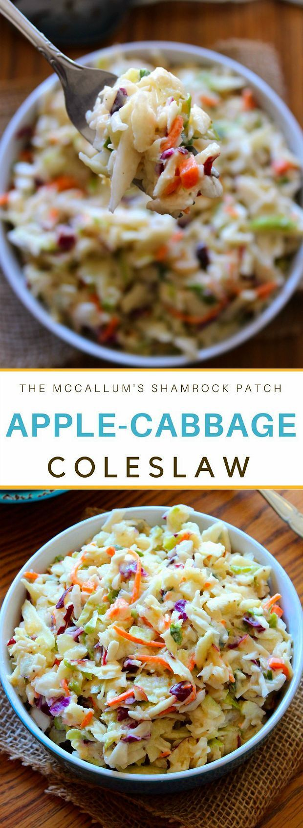 Apple-Cabbage Coleslaw is one of those deliciously refreshing side dishes that will compliment most of your grilled menu items; such as chicken, fish, or even pork. Made with crisp green cabbage, p…