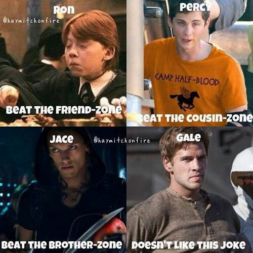 LOL GALE! :P Harry Potter, Percy Jackson, The Mortal Instruments & Hunger…