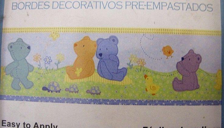 Teddy Bear Wall Border 5 yd Wallpaper Baby Nursery Neutral  #CartersChildofMine