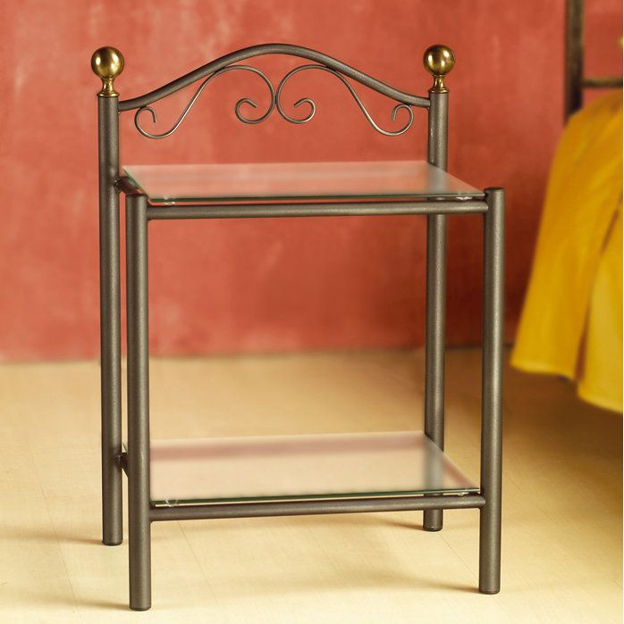 Lavinia Nightstand by Cosatto This piece is the twin of the beautiful nightstand Romanza. It is great for any shabby-chic furnished and decorated bedroom, but its modernity makes it suitable to any contemporary environment. The wrought iron frame of the bedside makes it a great piece to enrich your bed with.