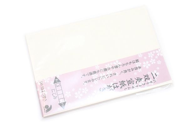 Akashiya Etegami Postcard Size Paper - Niso-Kyosen Paper - Pack of 10 Sheets - AKASHIYA AO-50L