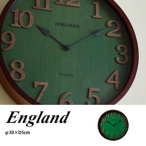 壁掛け時計/掛け時計(ウォールクロック)ENGLAND イングランドCL-7542(annon)【楽天市場】