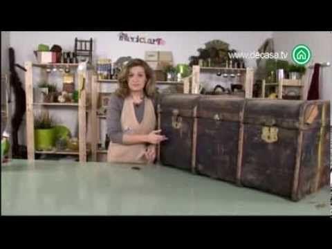 ▶En este capítulo del programa Reciclarte Chus Cano enseña cómo convertir un antiguo baúl en una elegante cómoda.