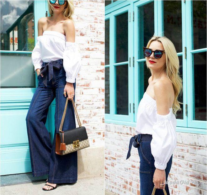 Уличная мода: Романтика в уличной моде: образы с открытыми плечами