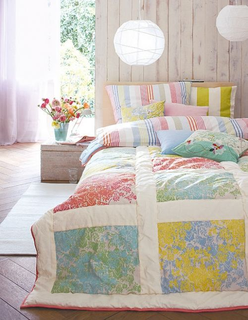 colorsGuest Room, Easy Quilt, Pastel Colours, Soft Colors, Duvet Covers, Girls Room, Bedrooms, Vintage Sheet, Comforters