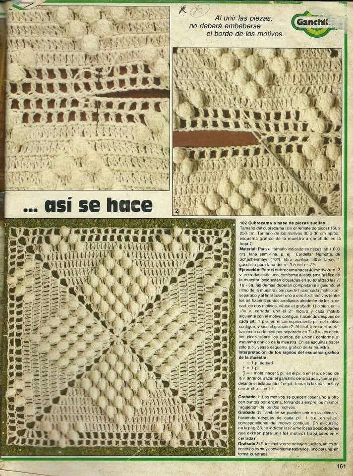 Mantas Ganchillo Patrones. Patrones Crochet Ganchillo Graficos ...