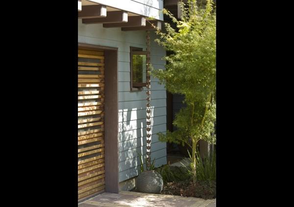 rain chains, garage door interest