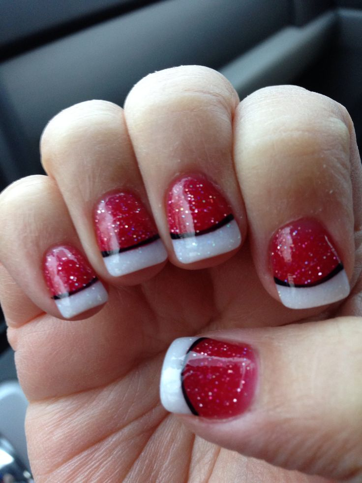 Best 25+ Red tip nails ideas on Pinterest | White sparkly nails, Red  christmas nails and Xmas nails - Best 25+ Red Tip Nails Ideas On Pinterest White Sparkly Nails